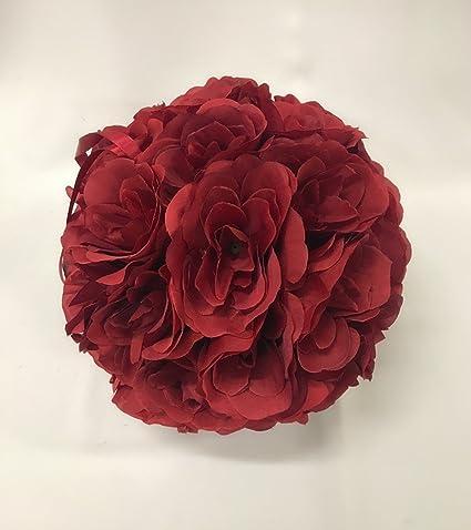 Amazon.com: MicroMall 9.84 Inch Romantic Rose Pomander Flower Balls ...