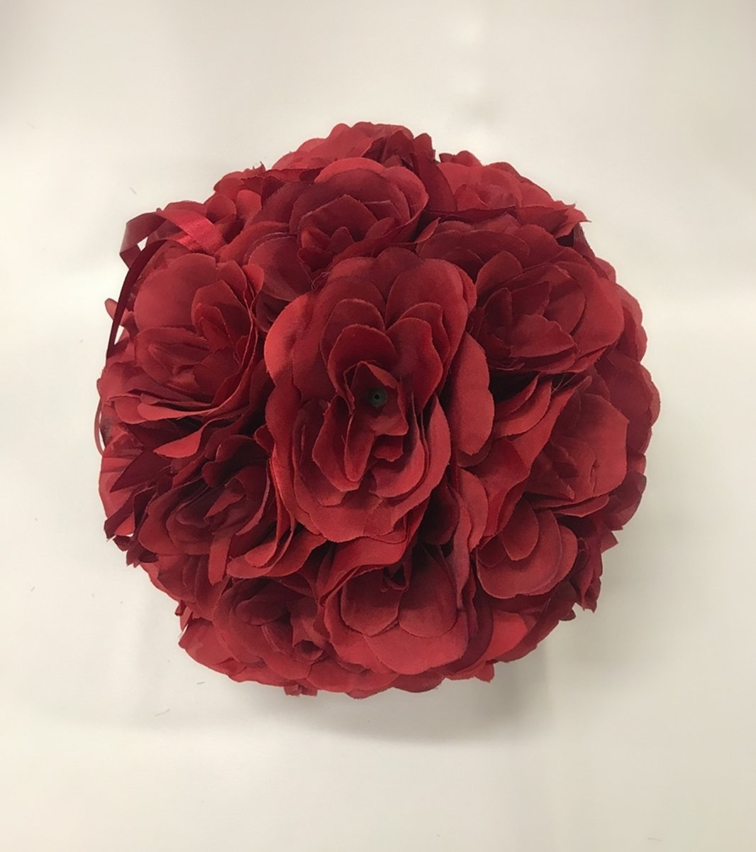 MicroMall-984-Inch-Romantic-Rose-Pomander-Flower-Balls-for-Wedding-Centerpieces-Decorations-Multicolour-Wine-Red