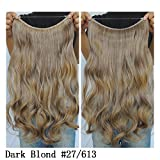 """Secret Halo Hair Extensions Flip in Curly Wavy Hair Extension Synthetic Women Hairpieces 20"""" (Dark Blonde #27/613)"""