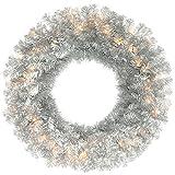 Vickerman Antique Silver Pine Wreath