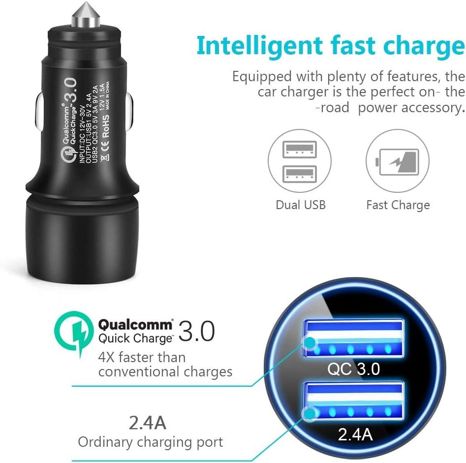 Amazon.com: Cargador de coche Qualcomm Quick Charge 3.0 30W ...
