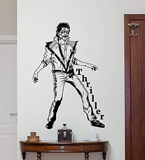 Michael Jackson Wall Decal Lettering Moonwalker Quote King Of Pop Dancer Music Vinyl Sticker Kids Room Musical Poster Decor Art Mural 56mu