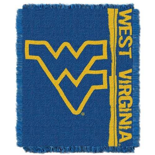 West Virginia Fringed - NCAA West Virginia Mountaineers Double Play Jacquard Throw, 48
