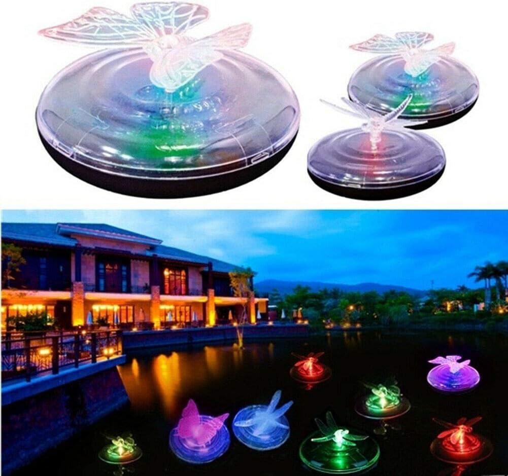 LED-Schwimmleuchte Butterfly farblos LED-Farbwechsel-Gartenlichter RGB Farbwechsel Schmetterling//Libelle Form Solar-LED-Schwimmleuchte Solar-LED-Wasserlicht schwimmende Teich-Nachtlichter