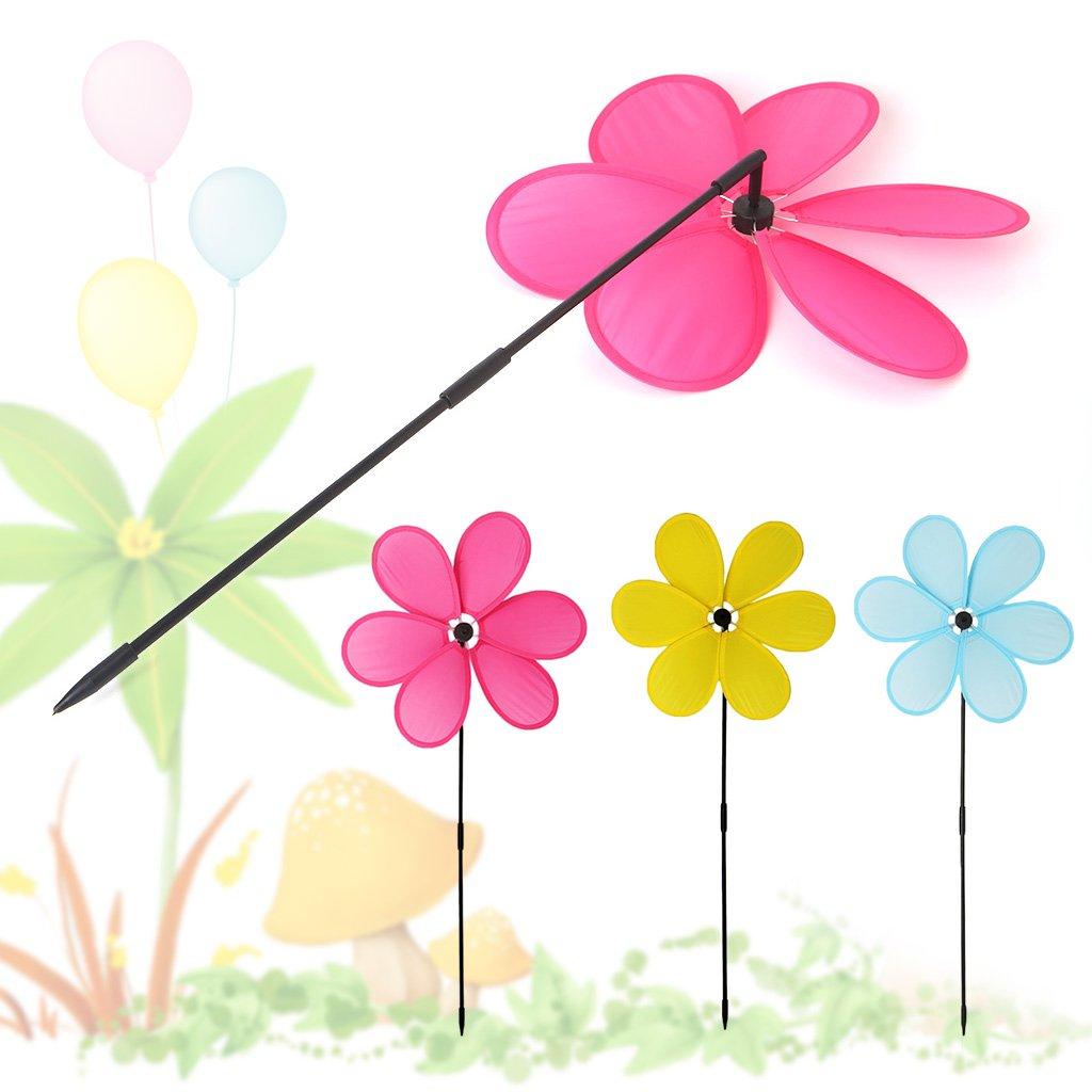 Random Color Lunji 3D Windmill Toy Cloth Outdoor Garden Home Decoration