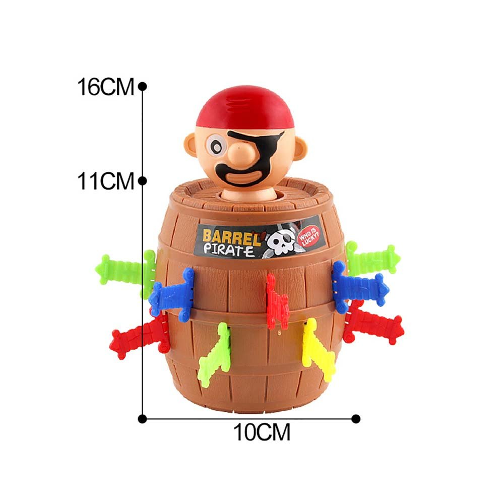 Sipobuy Mini Pop Up Pirate Fun Barrel Children's Preschool Action Group Game, 16*10cm