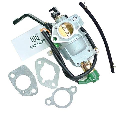 1UQ Manual Choke Carburetor Carb For Generac GP7500 GP7500E Model 5943 5978  7500 9375 Watt Gas Generator