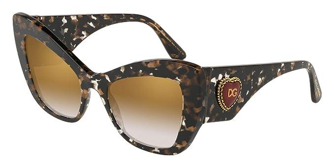 521502e586 Dolce & Gabbana 0DG4349 Gafas de sol, Cube Black/Gold, 54 para Mujer ...