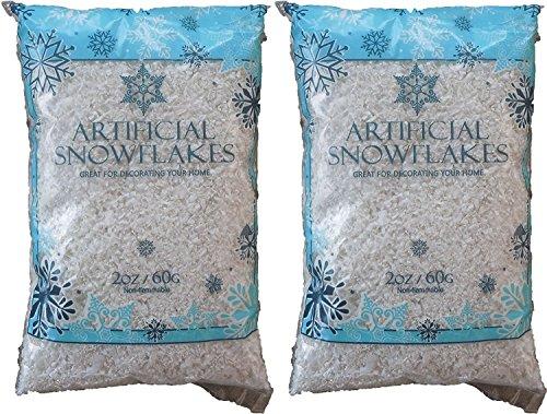 Snow Artificial Flakes 2 Oz Bag Blue Printed Polybag 2 (Artificial Snow)