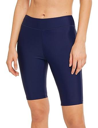 Nouveaux produits 0318b e6127 LAUSONS Legging de Bain Femme - Short de Bain Long Femme Plage - Bas  Maillot de Bain Shorty