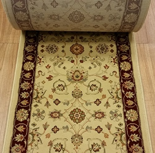 Roll Custom Runner Ivory (109562 - Rug Depot Dynamic Ancient Garden 5050-113 Creme Traditional Hall and Stair Runner - 26