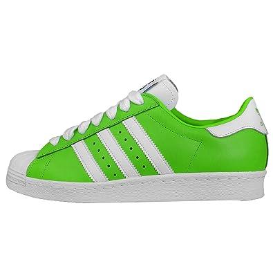 adidas - Chaussure Originals Superstar 80s NIGO Vert-Blanc M21509