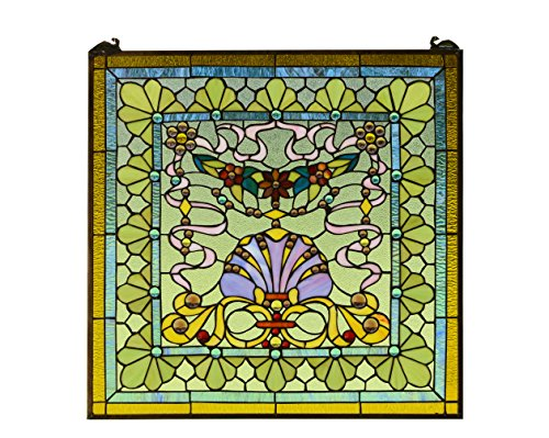 iffany Style stained glass Jeweled window panel ()