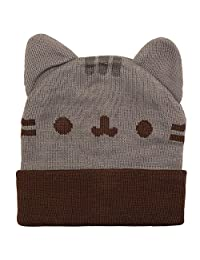 Pusheen Cuffed Beanie with Ears