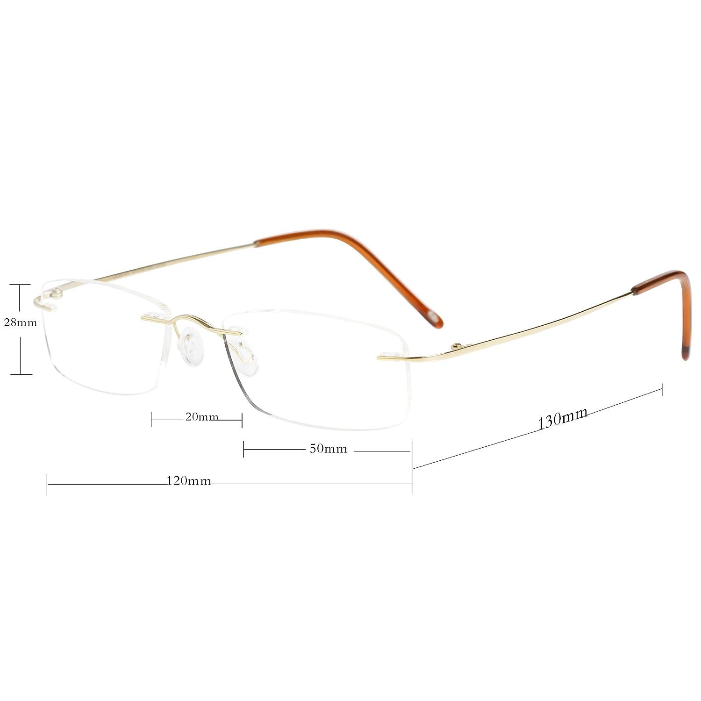 LianSan Le titane léger de lunettes sans monture de lunettes de lecture  hommes femmes lecteur 8085 afd1e6564770