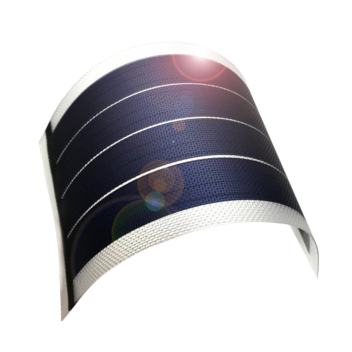 jiang Fexible Solar Panel Solar Power Charger Thin Film diy 1W 6V Photovoltaic Cells (clear)