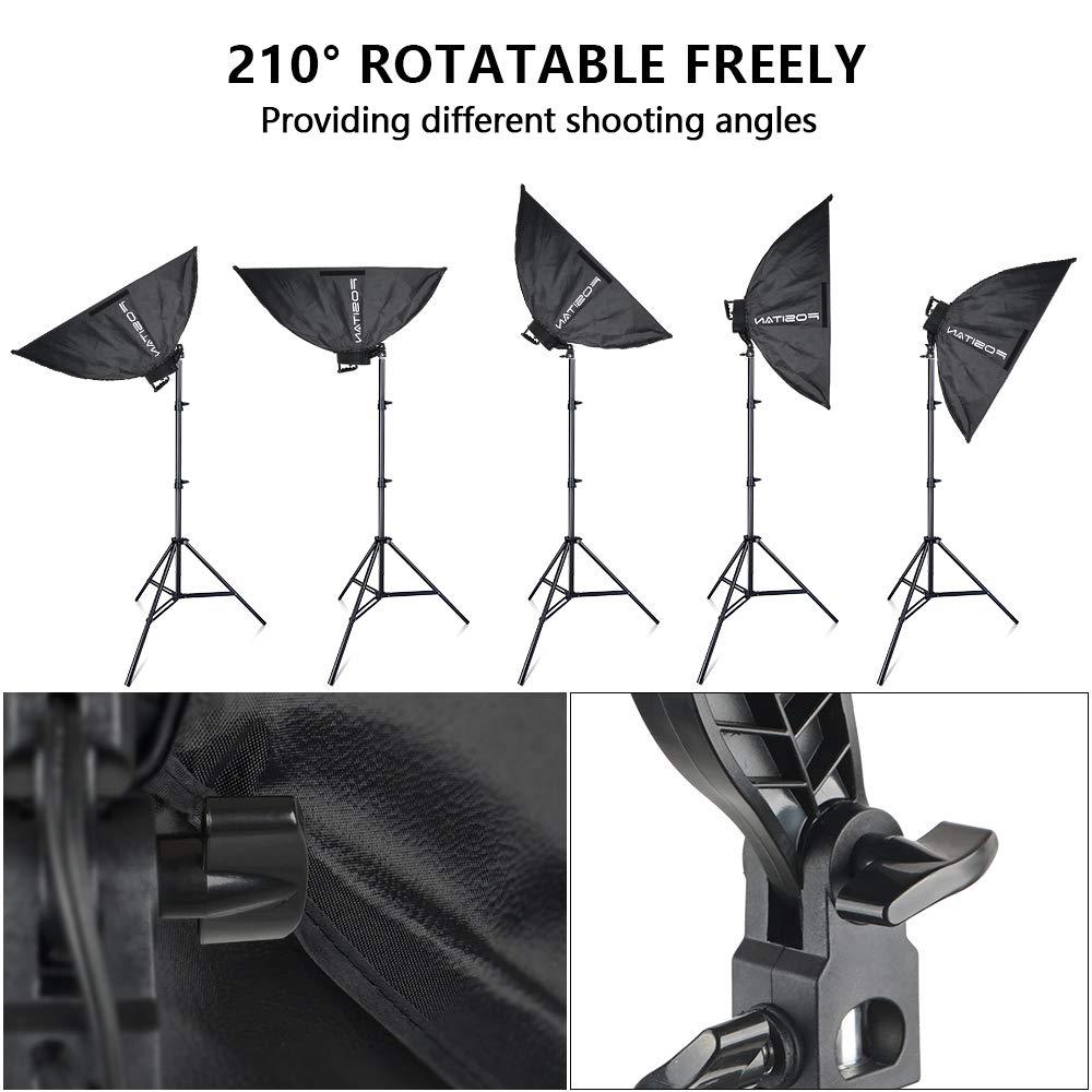 FOSITAN 3X 20'' x 28''Softbox Photography Lighting Kit, Boom Arm Headlight Lighting Kit with Sandbag, 2500W Continuous Lighting Kit with 2M Light Stand, Studio Lighting Kit with 11pcs Bulbs by FOSITAN (Image #4)