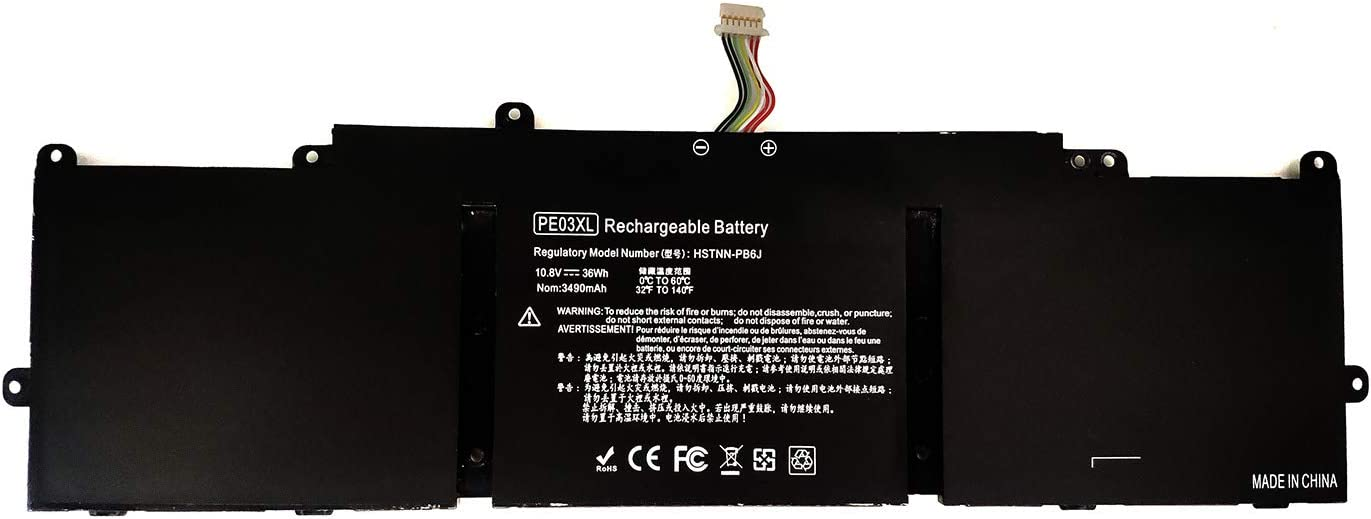 Binger New PE03XL Replacement Laptop Battery Compatible With Hp Chromebook 210 G1 11 G4 HSTNN-PB6J HSTNN-LB6M 766801-421 766801-851 767068-005 Series Laptop PE03 PE03036XL(10.8V, 36Wh)