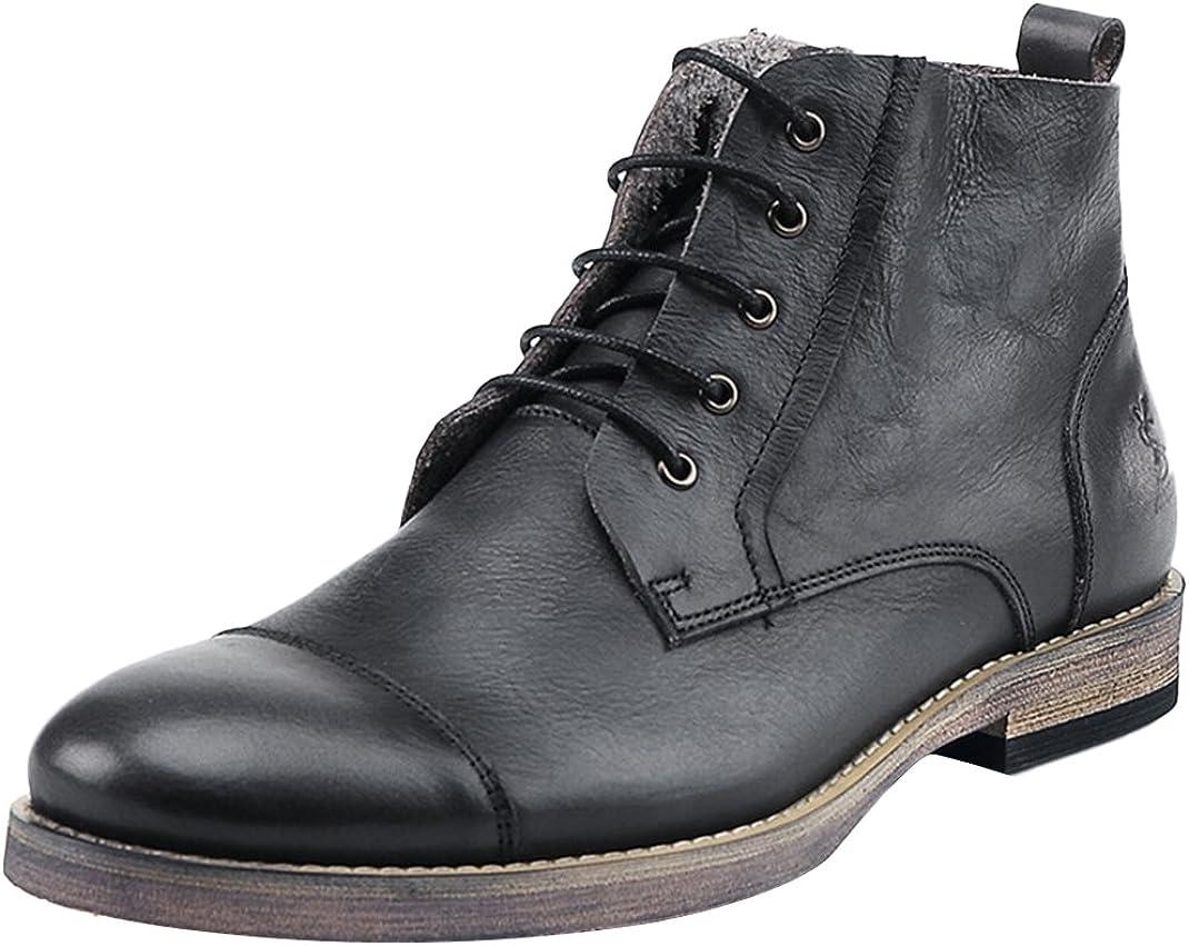 Insun - Botas de Piel para Hombre: Amazon.es: Zapatos y complementos