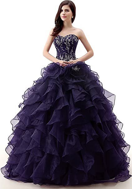 Amazon.com: okaybrial Mujer 15 vestidos quinceañera vestidos ...