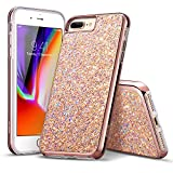 iPhone 8 Plus Case, iPhone 7 Plus Case, ESR Luxury Bling Sparkly Diamond Case [Supports Wireless Charging][Hard PC Back, Soft TPU Inner] Protective Cover Case for iPhone 5.5 inches(Rose Gold) Reviews