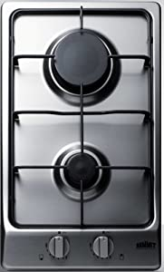 Summit GC22SS Gas Cooktop, Stainless-Steel