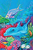 Toland Home Garden Undersea Dolphin and Friends 12.5 x 18-Inch Decorative USA-Produced Garden Flag