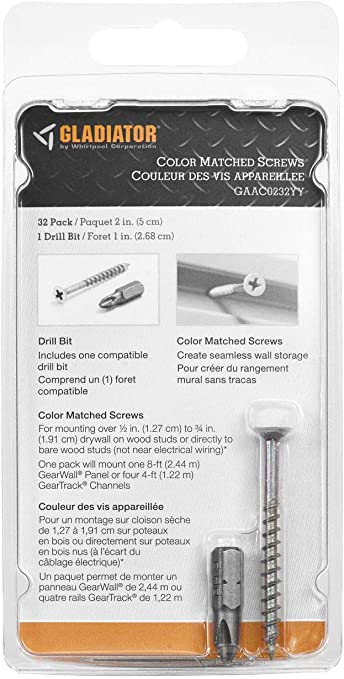 Gladiator GAAC0232YY Color Matched Screws for GearWall Gray