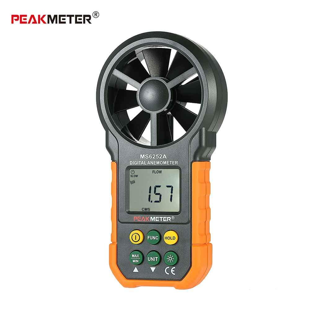 Provide The Best Medidor, MS6252A Digital portátil Anemómetro de retroiluminación de LCD Aire Velocidad del Viento Medidor de Velocidad
