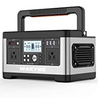 WAKYME 520Wh Portable Power Station with 110V AC Outlet