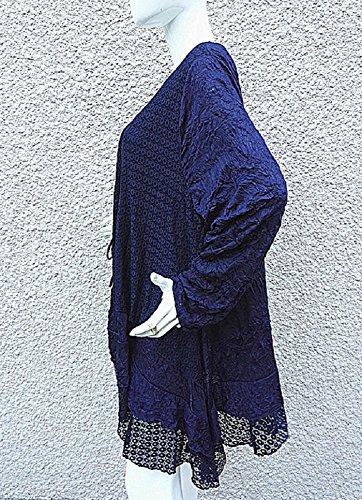 fashionfolie -  Maglia a manica lunga  - Collo a U  - Donna