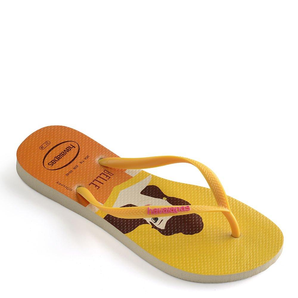 Havaianas Women's Slim Princess Flip Flops Beige/Yellow 1 41-42 M Bra OA3t0x9wO