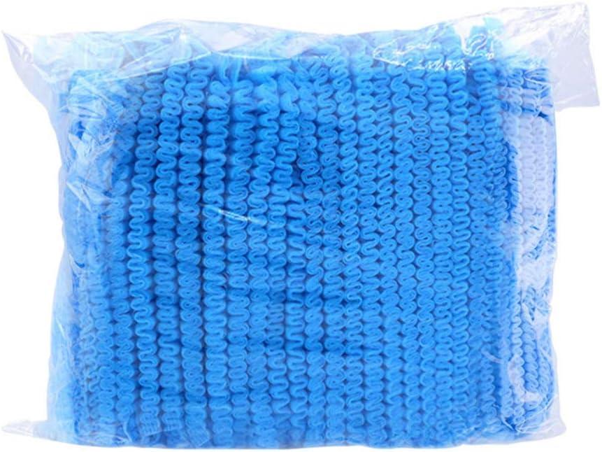 Artibetter 200pcs Disposable Caps Non-Woven Medical Caps Disposable Hair Net Caps Disposable Waterproof Caps for Kitchen Lab Hospital Blue