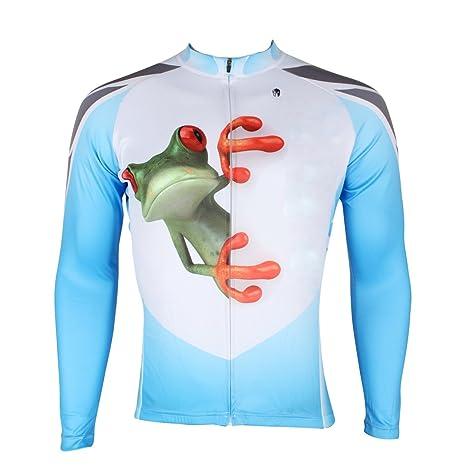 Ilpaladino Men s Custom Bike Jerseys Long Sleeve Frog Pattern Size XXS aea8ab290