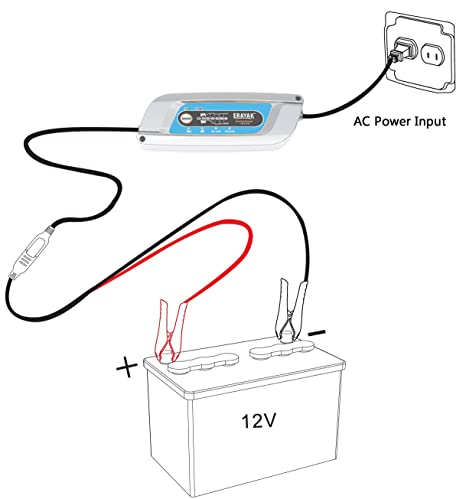 Amazon Com Erayak Smart Battery Charger 3amp 12v Portable Jump