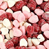 Jelly Belly Valentines Petite Sour Gummy Hearts Candy (1 Lb - 700 Pcs)