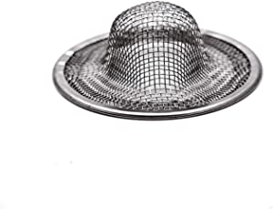 Antrader Kitchen Sink Strainer, 2Pcs Stainless Steel 2-Inch Diameter Mesh Round Filter Bathroom Bathtub Wash Basin Garbage Disposal Basket Filter