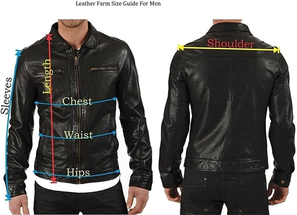 New Mens Leather Soft Lambskin Motorcycle Bomber Party Jacket LF872
