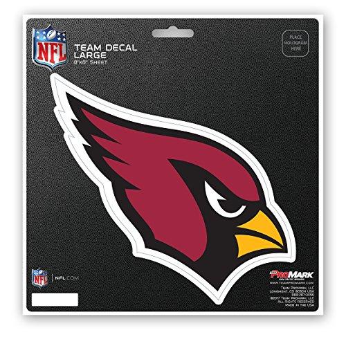 Promark NFL Arizona Cardinals Unisex Arizona Cardinals Decal Die Cutarizona Cardinals Decal Die Cut, Team Color, 8x8 by Promark