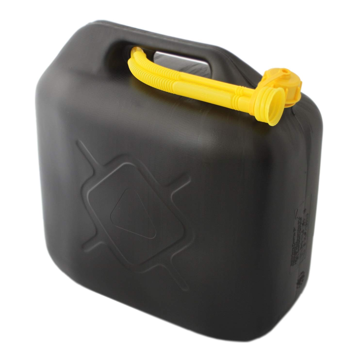 BENSON 10 Litre Plastic Petrol Can Fuel Can Replacement Canister with Spout Pipe
