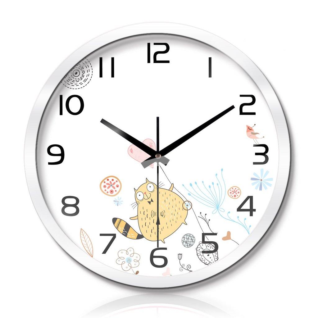時計リビングルームベッドルームクリエイティブメタルウォールクロックウォールクロックサイレントスキャン3世代のスマートウェーブウォールクロック LCS (色 : 白, サイズ さいず : 14 inches) B07FC9QWBS 14 inches|白 白 14 inches
