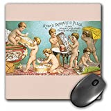 3dRose LLC 8 x 8 x 0.25 Inches Mouse Pad, Ayers Cathartic Pills Family Medicine Babies Packing Pill Boxes - (mp_169862_1)