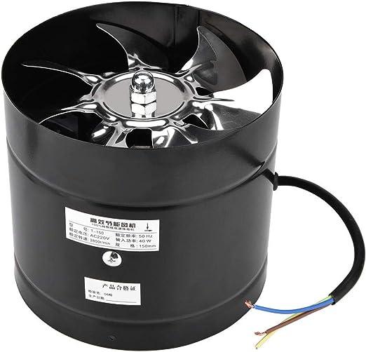 Duokon Ventilador de Aire Industrial del Ventilador del Ventilador de Aire Ventilador de Aire montado en la Pared del Ventilador axial montado en la Pared (2 Colores) (Negro): Amazon.es: Hogar