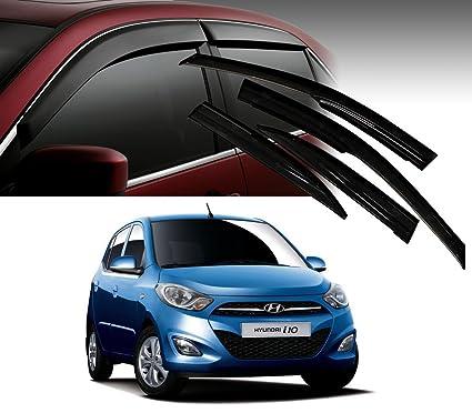 Autopearl Car Door Visor Side Window Deflector for Hyundai i10 (Set of 4)   Amazon.in  Car   Motorbike 1fbf99df046