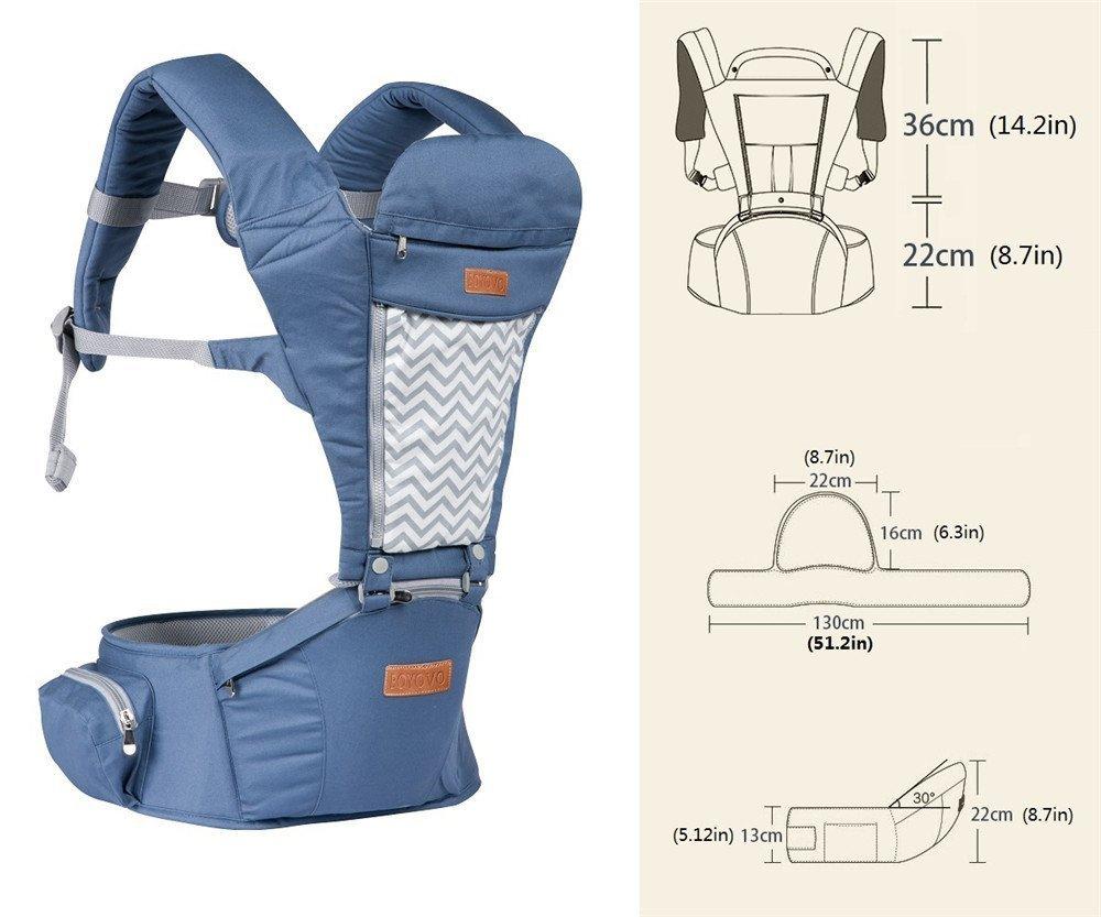 97985075a0ae Boyovo Porte-bébé siège de hanche, sac à dos, écharpe 6 en 1 pour toutes les  saisons  Amazon.fr  Bébés   Puériculture
