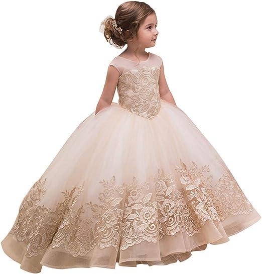 Vestido de niña de Flores de los niños Femeninos Espectáculo ...