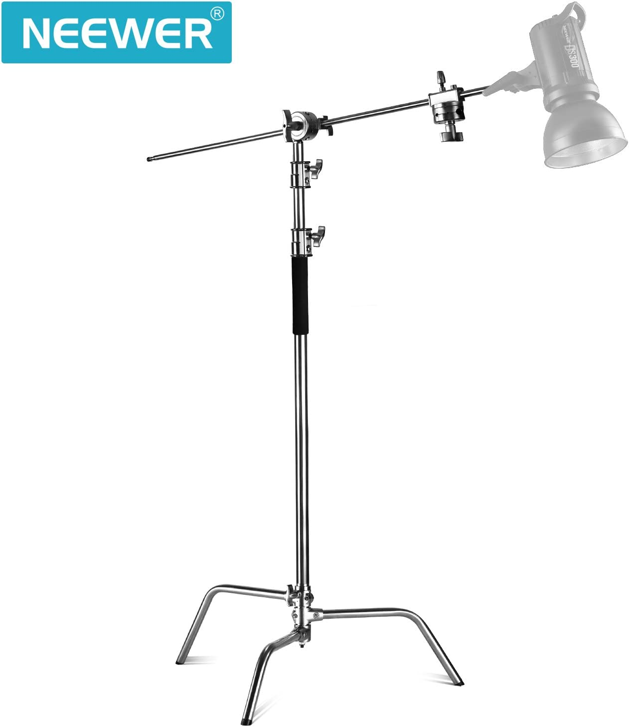 Umbrellas 58.6-121.6 inches Stand with One Adjustable Leg for Photography Reflectors Neewer Upgraded Heavy Duty Stainless Steel C-Stand with Hold Arm and Grip Head Monolights Softboxes