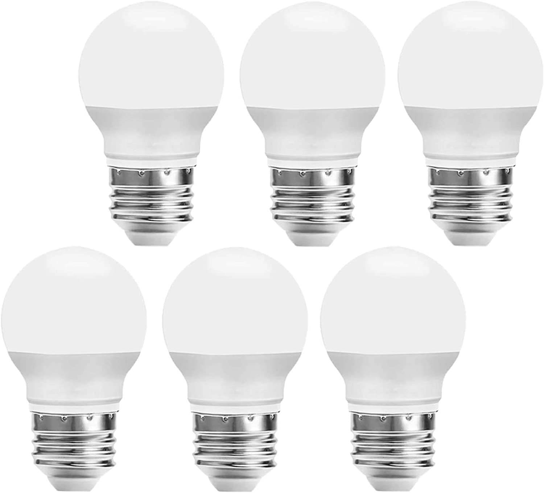 Amazon Com Led Light Bulbs 25 Watt Equivalent Daylight 5000k 270lm A15 3w Led Bulb E26 Medium Screw Base Cri 90 Non Dimmable For Home Lighting Decorative 6 Pack Home Improvement