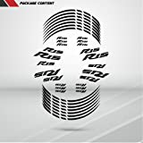 Gloss White Motorcycle Rim Wheel Decal Accessory