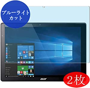 "【2 Pack】 Synvy Anti Blue Light Screen Protector for Acer Switch Alpha 12 12"" SA5-271-F58U/F Blue Light Blocking Screen Film Protective Protectors [Not Tempered Glass] New Version"